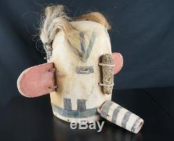 10# Antique Kachina Mask, Divinity Sikya Heheya HOPI, Native American