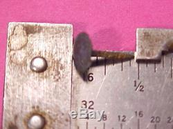 100 Old 5/16 19th C Square Shank Brass Tacks Crow Knife Sheath Tomahawk Handle