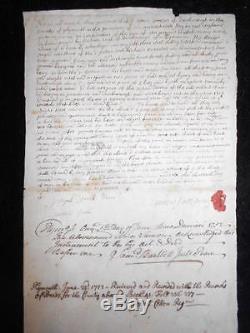1752 Land Deed Duxbury Massachusetts Josiah Cotton Plymouth America Pilgrims $$