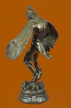 18 Native American Indian Art Chief Eagle Bust Bronze Marble Statue Gallery Art