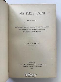 1881 Antique History Nez Perce Joseph Howard Native American Indian Tribe 2 Maps