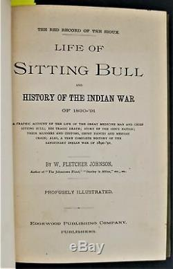 1891 antique SITTING BULL INDIAN WAR native american history SALESMAN SAMPLE