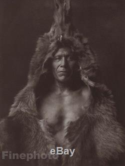 1900/72 Photo Gravure NATIVE AMERICAN INDIAN Portait Arikara EDWARD CURTIS 11x14