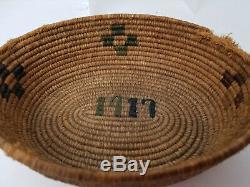 1917 Antique Morongo Mission Indian Oval Basket Riverside Califorina Provenance