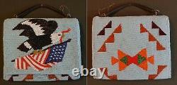 1920's Native American Yakama 2Sided Fully Beaded Ladies Hand Bag PatrioticEagle