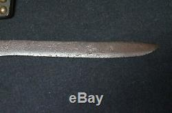 19th C. Brass Tacked Leather Sheat and Knife Blackfoot Native American