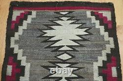2'5 x 3'3 Authentic Antique Native American Navajo Hand Woven Wool Rug