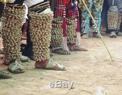 2 Pc. Rare Antique Tohono O' Odham-yaqui Deerdance Leg Rattles Native American