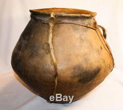 200yr Primitive Southern Calif Indian Pottery Jug Large
