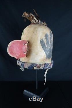 21# Antique Kachina Hemis HELMET Native American, PUEBLO, Mid 20th Century