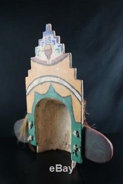 31# Antique KACHINA Mask HOPI, Native American, HORSE HAIR
