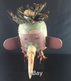 32# Antique KACHINA Double Bird Helmet HOPI, Native American