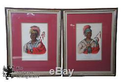 4 Mckenney & Hall Antique Lithographs Tribes North American Native Indian Chief