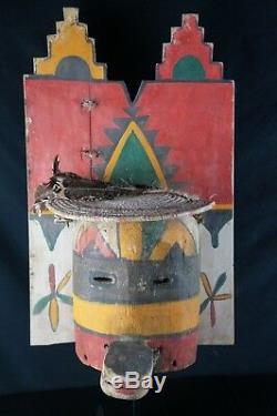 48# HUGE! Antique KACHINA Mask Pueblo, Native American