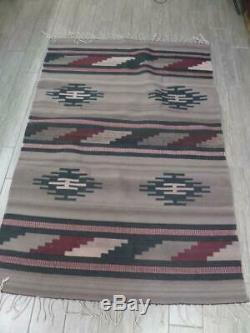 4x6 vintage INDIAN wool woven rug NATIVE AMERICAN navajo antique handmade
