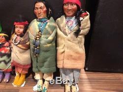 5 Vintage Skookum 12 11.5 9 7 7 6.5 Tall Dolls Indian Native American See
