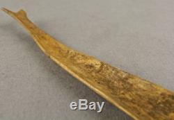 500-5000yrs FISH FIGURE SPOON ALEUT Artifact KODIAK AK Inuit Caribou Bone Shaman