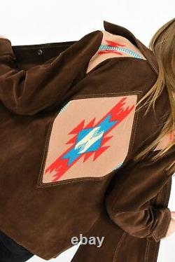 60s Vintage Ms Pioneer Western Jacket Womens M L Geometric Native American EUC