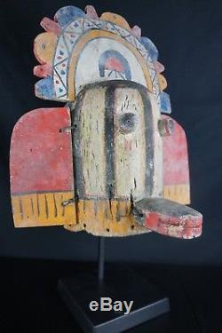 7# Antique Kachina MASK HOPI, Native American Plain Indians Early to Mid 20th