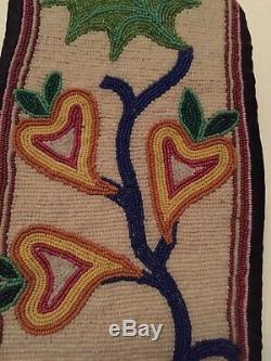 A Great Lakes Beaded Cloth Bandolier Bag C. 1890