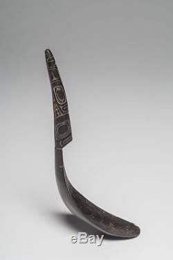 A Haida Mountain Goat Horn Spoon Native American