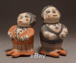 A Rare Native American Cochiti Pueblo Pair of Figurines by Teresita Romero