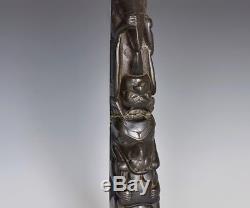 A Vintage Native Totem Poll