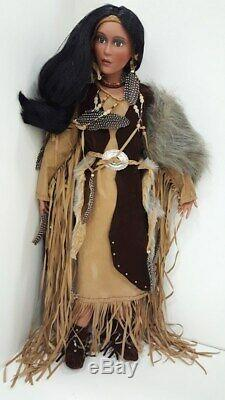 A21 Timeless Collection Native American Indian Princess Porcelain Artist Doll +