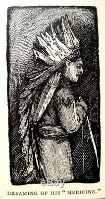 AMERICAN INDIAN Antique NATIVE 1887 US War Tribes Massacres Scalping ILLUSTRATED