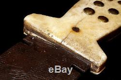 Antique Authentic 19th Century Tacked Bone Handle File Blade Knife