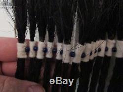 ANTIQUE BLACKFOOT WARRIOR'S HEADRESS HAIR PIECE 23 beaded horsehair braids