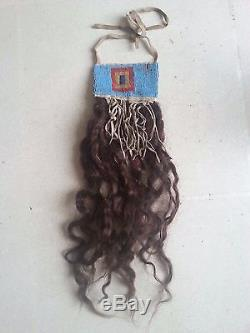 ANTIQUE Centenary Native American Human Hair Ornament (Trophy) Indian Wars