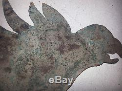 ANTIQUE Copper Bird from Old Indian Burial Mound (9-17th century)