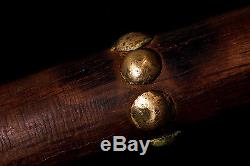 ANTIQUE EARLY NATIVE AMERICAN BUFFALO BILL GUN STOCK WAR CLUB 1890's 1900's