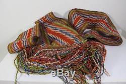 Antique Finger Weave Woven Metis Sash Assumption Assomption Quebec