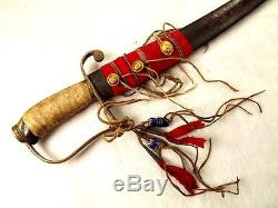 Antique Native American Indian Used Sword Altered From Early American Or English
