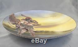 Antique Nippon Japan 3d Blown Out Native American Indian 10-1/2 Charger, Plate