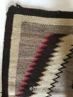 ANTIQUE Native AMERICAN INDIAN NAVAJO RUG GERMANTOWN RED 46 X 66 Inch Textile