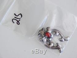ANTIQUE Native American Navajo Sterling Silver Cast Naja Squash Blossom Necklace