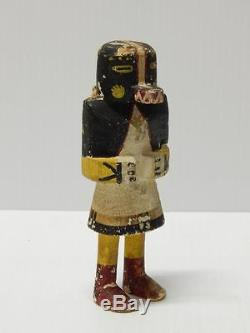 ANTIQUE STIFF ARM VINTAGE HOPI INDIAN KACHINA DOLL EARLY EXAMPLE 5 1/8 tall