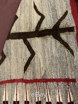 ANTIQUE VINTAGE NATIVE AMERICAN INDIAN NAVAJO RUG PICTORIAL CORN STALK 68x37