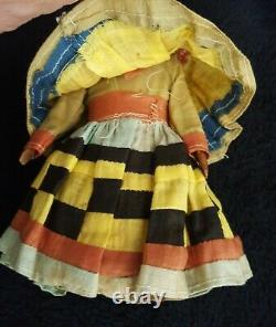 ATQ (20s/30s)Hand Carved7-1/2 Wooden Male Seminole Indian DollNative America