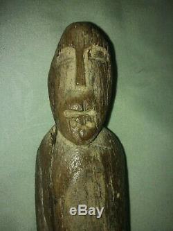 Alaska Inuit Eskimo Ancestor Figure (Yukon Kuskokwim Delta Region). Circa 1500