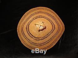 An Important Nootka Whalers Hat- Northwest Coast Indian Basket Cedar 19th Cen