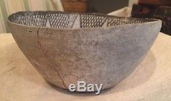 Anasazi Chaco Black & White Bowl No Restoration Indian Pottery Antique