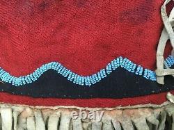 Antike Satteltaschen Indianer ANTIQUE NATIVE AMERICAN LARGE BEADED SADDLE BAGS