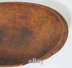 Antique 18th/19th Century Native American Indian Wood Bowl Hand Hewn