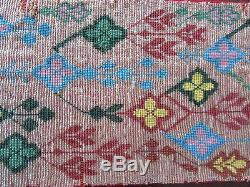 Antique (1940s) Ojibwa Beaded Tobacco Bag Front