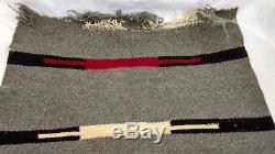 Antique 19c Handwoven Native American Indian Textile Shawl Rug Baby Blanket 20x