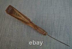 Antique 19th Century Native American Indian Mocotaugan Crooked Knife
